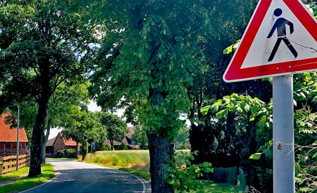 Gefährliche Kurve in Heitlingen
