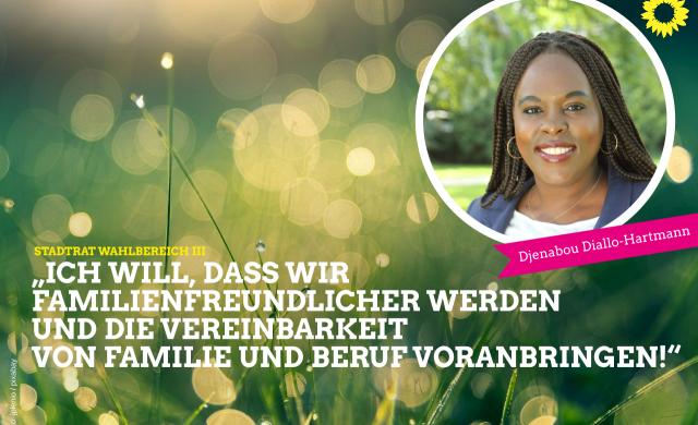 Spitzenkandidatin Djenabou Diallo-Hartmann