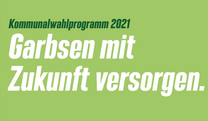 Titelbild Wahlprogramm Grüne Garbsen 2021