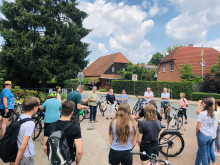 Start der Fahrradtour durch Osterwald